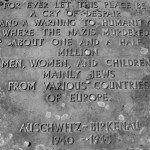 Commemorative Plaque at Auschwitz