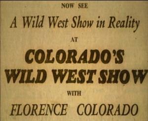 Colarado's Wild West Show Board