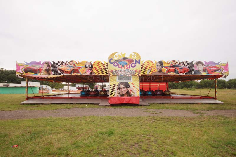 picture of a modern dodgem track ride