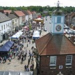 a picture of yarm gala from the air