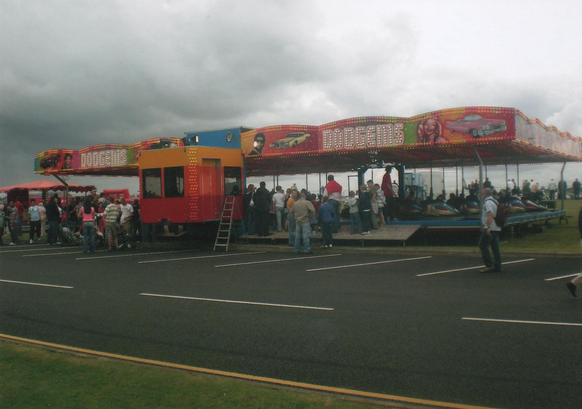 Image of a modern dodgem ride